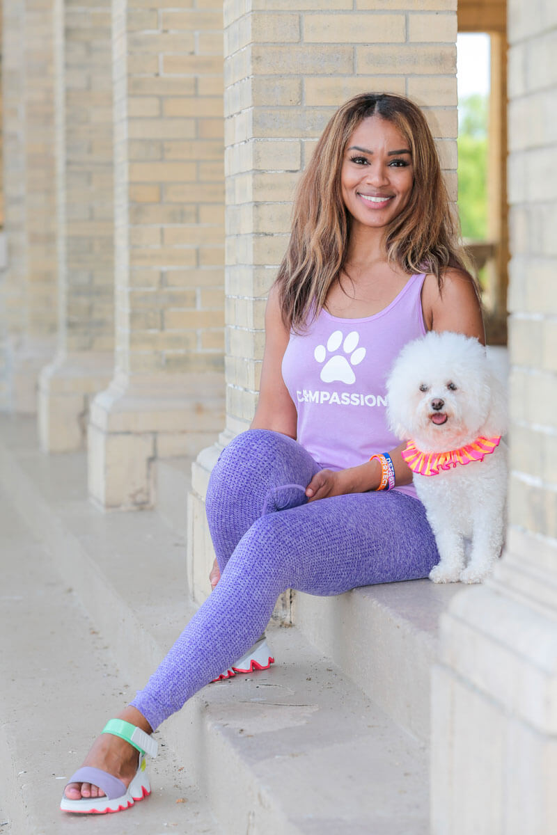 Swaggles Compassion Pink Tank Top for Pet and Animal Lovers