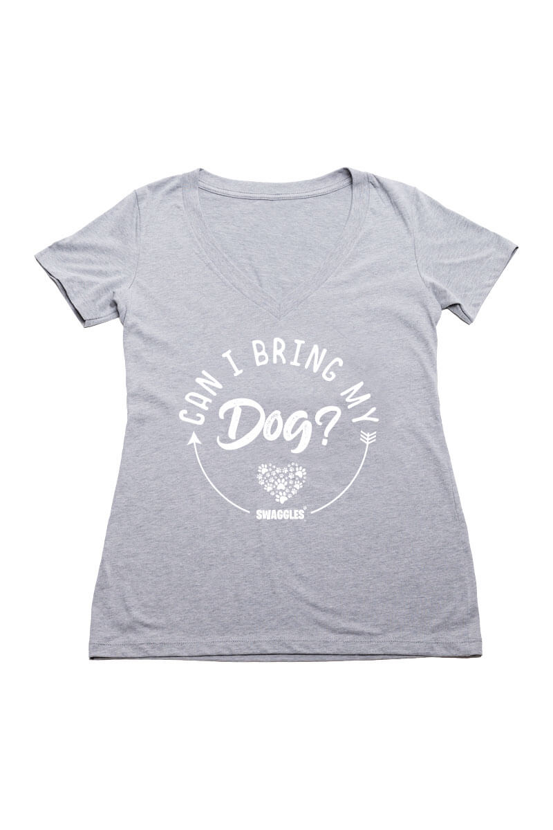 Swaggles Can I bring my Dog V-neck for Women