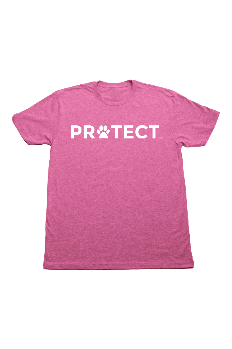 Protect Pink Crew Neck T Shirt by Swaggles